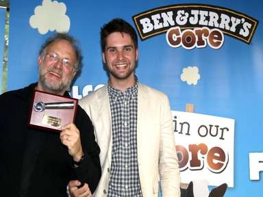 James Whelton, dot conf keynote speaker, with Ben & Jerry's co-founder Jerry Greenfield